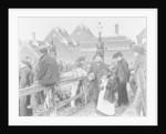 British village cattle market, Victorian by English School