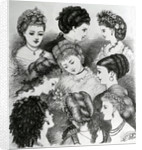 The Present Fashions in Hair by English School