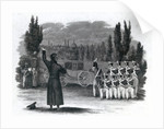 Marshal Ney shot himself giving the word of command by English School