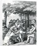 The Indians delivering up the English Captives to Colonel Bouquet near his Camp at the Forks of Muskingham in North Anerica by English School