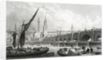Old London Bridge by Thomas Hosmer Shepherd