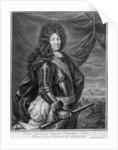 Portrait of Louis XIV engraved by Gerard Edelinck by Jean de la Haye