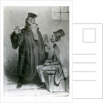Robert-Macaire Avocat by Honore Daumier