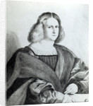 Portrait of a young man, print by Wenceslaus Hollar by Jacopo Palma