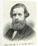 Frederick William Hulme from 'The Illustrated London News' 6th December by English School