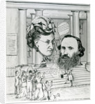 Jacob's return, meeting of Jacob Bright and Lydia Becker, magazine illustration by English School