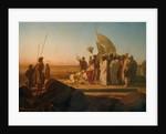 Xerxes at the Hellespont by Jean Adrien Guignet