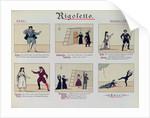 Scenes from the Opera 'Rigoletto' by Giuseppe Verdi by German School