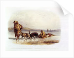 Dog Sledges of the Mandan Indians by Karl Bodmer