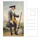 King Carlos III in hunting dress by Francisco Jose de Goya y Lucientes