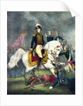 General William H. Harrison at the Battle of Tippecanoe by N. and Ives