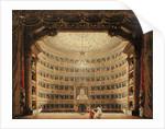 La Scala, Milan, during a performance by Italian School