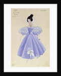 Costume design for Tatania in the opera 'Eugene Onegin' by Tchaikovsky by French School