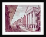 High street with the first Presbyterian Church, Philadelphia by American School
