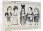 Five caricatures of the cast of a French production of 'The Barber of Seville', by Gioachino Rossini by Unknown