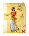 Costume design for the role of Isolde, in the opera 'Tristan und Isolde', by Richard Wagner by Unknown