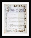 Score of the opera, 'Don Carlos', by Giuseppe Verdi written on paper printed for the Exposition Universelle of 1900 by Unknown