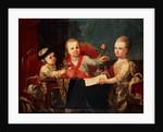 Three Princes, Children of Charles III by Francisco de la Traverse