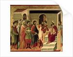 Maesta: Jesus before Herod by Duccio di Buoninsegna