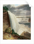 Niagara Falls, part of the American Fall from the Foot of the Stair Case, engraved by J. Hill by H.J. Bennett