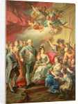Paying Homage to Charles IV and his Family by Vicente Lopez y Portana