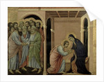 Maesta: The Virgin Says Farewell to St. John by Duccio di Buoninsegna