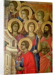 Maesta: Detail of Saints, including St. John the Baptist by Duccio di Buoninsegna