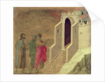 Maesta: Christ Appearing on the Road to Emmaus by Duccio di Buoninsegna