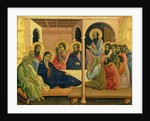 Maesta: The Virgin Taking Leave of the Disciples by Duccio di Buoninsegna