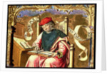 St. Matthew: Detail of Altarpiece by Master of Paredes