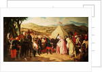 The Spanish meet with the Moroccans to negotiate a Peace Settlement by Joachin Dominguez Becquer