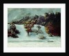 Winter Landscape With The Dents Du Midi by Gustave Courbet