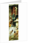 In the Roman Baths, or Roman Women In The Bath by Sir Lawrence Alma-Tadema