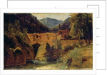 Mill in the valley near Amalfi by Karl Blechen