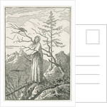 Woman with a Raven, on the Edge of a Precipice by Caspar David Friedrich