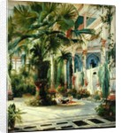 Interior of the Palm House at Potsdam by Karl Blechen
