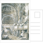 The Choir Singing in St. Mark's Basilica, Venice by Canaletto
