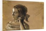 Study for a portrait of Mrs Von Maercker by Adolph Friedrich Erdmann von Menzel