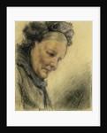 Head of an Old Lady by Adolph Friedrich Erdmann von Menzel