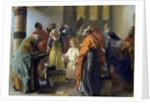 Twelve-year old Jesus in the Temple by Adolph Friedrich Erdmann von Menzel