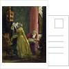 In the Boudoir by Adolph Friedrich Erdmann von Menzel
