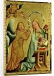 The Annunciation from the High Altar of St. Peter's in Hamburg, the Grabower Altar by Master Bertram of Minden