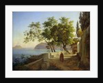 The Terrace of the Capucins in Sorrento by Joachim Faber