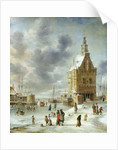 The City Gate of Hoorn by Jan Abrahamsz. Beerstraten