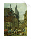 The Marketplace in Wernigerode by Charles Hoguet