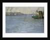 Sunday Atmosphere on the Elbe, St. Paul Landing Bridge by Leopold Karl Walter von Kalckreuth