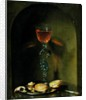Still Life with Bread and Wine Glass by Isaac Luttichuys