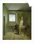 Caspar David Friedrich in his studio by Georg Friedrich Kersting