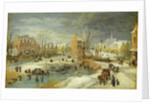 Village in Winter by Joos or Josse de