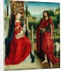 Madonna and Child with St. John the Baptist by Master of the Legend of St. Ursula